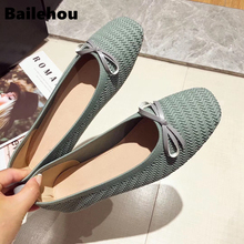 Bailehou 2019 Spring Slip On Flat Loafers Round Toe Women Flats Shoes  Shallow Ballet Shoes Casual Soft Ballerina Female Mujer недорго, оригинальная цена