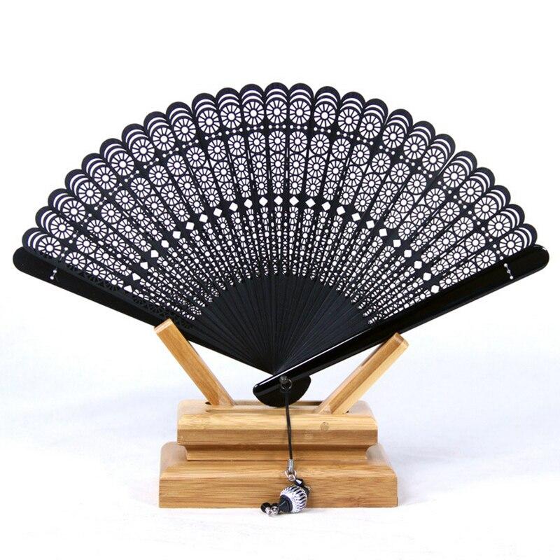 Begrenzte schwarze Falthandbambusfächer Leques Japoneses Damen, - Wohnkultur - Foto 1