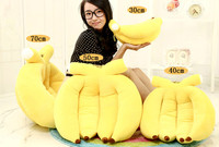 30cm 40cm 50cm 65cm Banana Plush Pillow Large Fruit Doll Kids Pillow Cushion Toy