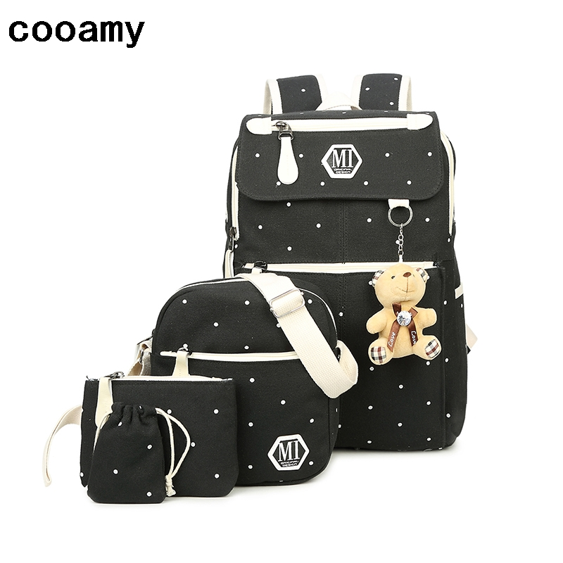 Korean Casual Women Backpacks Canvas Book Bags Preppy Style School Bags for Teenage Girls Composite Mochila