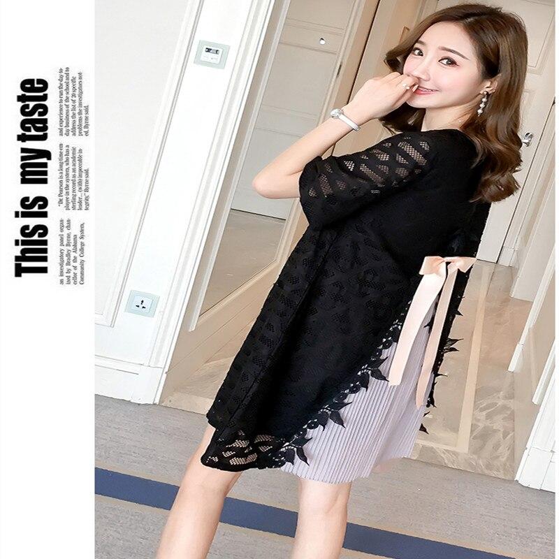 5768f895cc060 MODENGYUNMA Pregnant Women Lace Dress Cute Luxury Bow Pregnancy Clothes  Irregular Hem Maternity Dresses 2018 summer dess on Aliexpress.com |  Alibaba Group