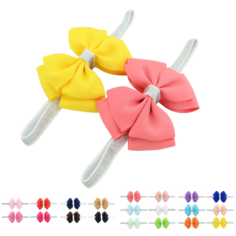New 10Pcs Headband Kid Girl Baby Toddler Bow Flower Hair Accessories Ribbon Headwear