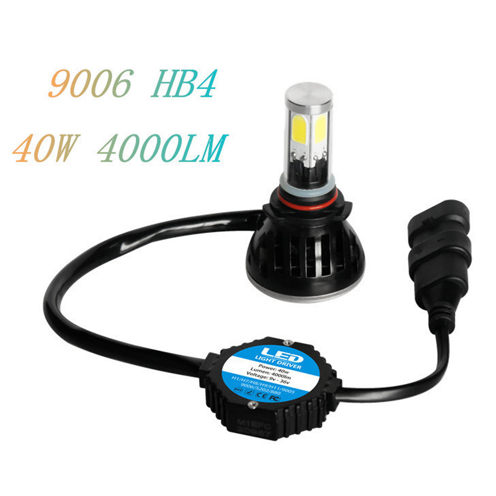 1 Pair All - in - One Car LED Headlights For 9006 G5 40W Super Bright Automobiles Headlamp with The Latest All Sides Light