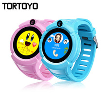 Kid Tracking Watch Smart Watch Phone GPS Tracker Safe Anti-lost Monitor with Flashlight Camera Positioning Wristwatch Baby Gift