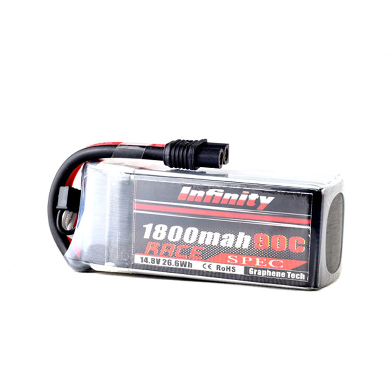 High Quality Lipo Battery For Infinity 1800mAh 90C 14.8V 4S1P RACE SPEC For RC Model Quad FPV Toys Spare Part Accessories high quality lipo battery replacement