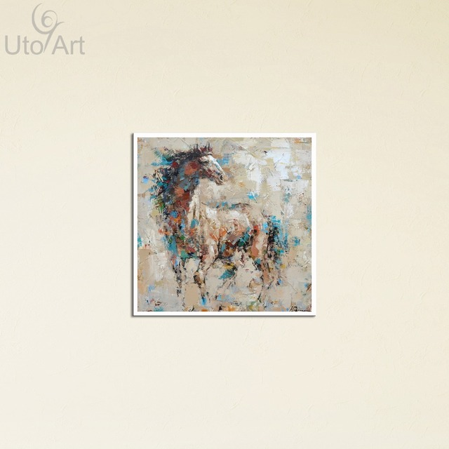 Guarantee Horse Painting Canvas Art Wall Frames Picture Panel Square ...