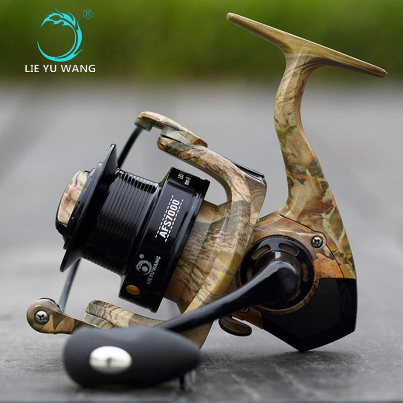 NEW LIEYUWANG Fishing Reel AFS 12+1BB Spinning Lure Reel Saltewater Carp Long Casting Reel fish wheel products