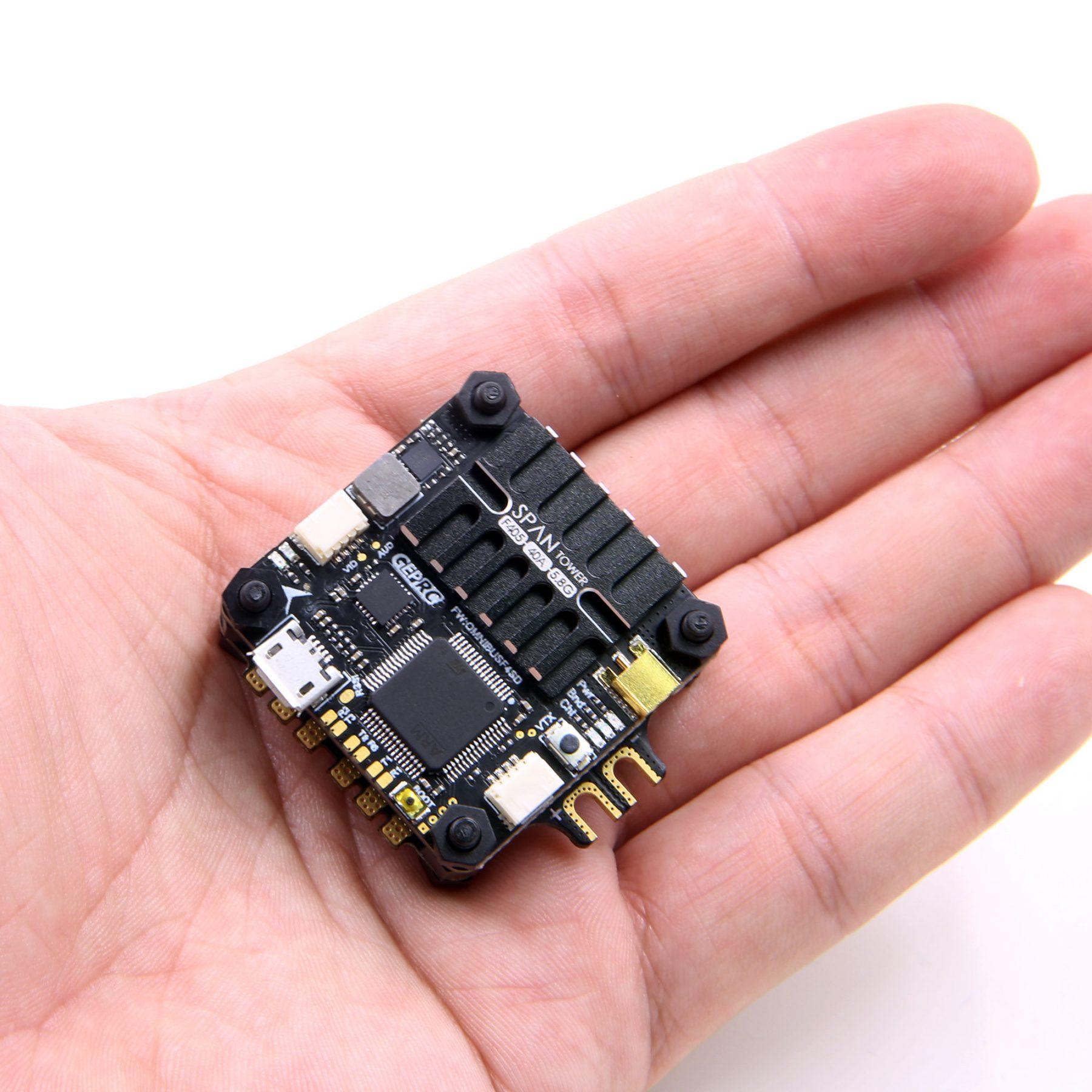 GEPRC do ustawiania zakresu pomiarowego F4 wieża F405 sterowania lotem Betaflight zintegrowany 5.8G 48CH VTX + BLHeli_S/Dshot600 40A ESC 4in1 dla dronów wyścigowych FPV w Części i akcesoria od Zabawki i hobby na  Grupa 2