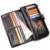 CONTACT'S Genuínos Homens de Couro Carteiras de Design Da Marca Famosa Do Vintage Titular do Cartão Bolsa Da Moeda Saco Bolsos Longo Da Embreagem de Alta Qualidade
