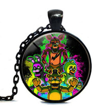 New Necklace 5 Five Nights at Freddy's Necklace Toys FREDDY FAZBEAR Scrabble Tile Pendant glass cabochon children christmas HZ1