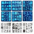 Mp0013 OM-A1-32 Art Sello Estampado de Placa, Juego, Ronda de Acero Inoxidable de DIY Esmalte de Uñas de Impresión de Uñas Plantilla de La Plantilla