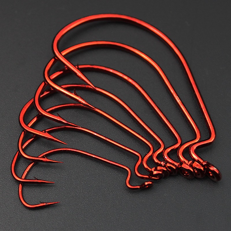 red-nickel-worm-hooks-for-fishing-barbed-carp-fishing-hook-new-carbon-steel-fishhooks-size-1-fontb0-