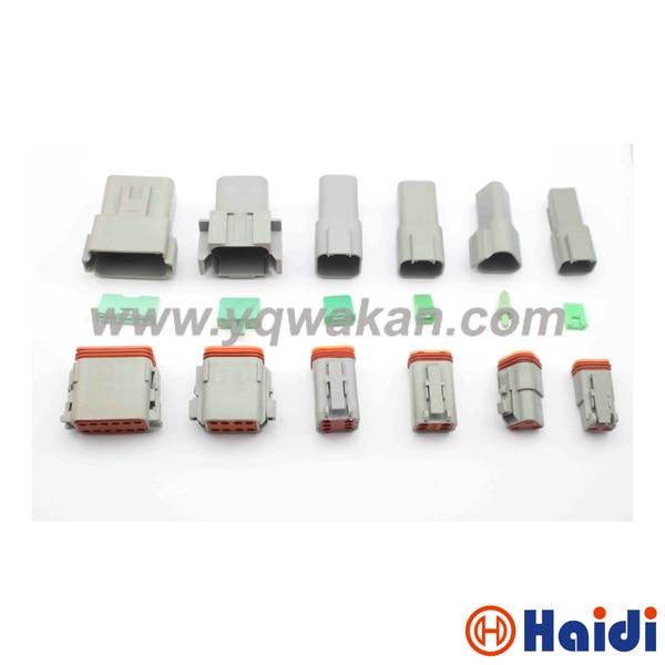 Free shipping 1set 2/3/4/6/8/12pin Deutsch male&female connector DT04-2P DT04-3P DT04-4P/6/8/DT04-12P&DT06-2S/3/4/6/8/DT06-12S цена и фото