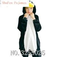 Mengshufen Kış Anime Kadın Pijama Yetişkin Hayvan Siyah Penguen Pijama Pijama Kostüm Unisex