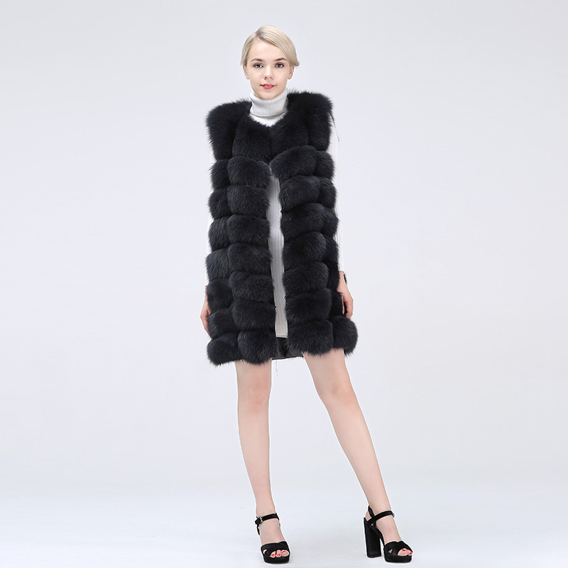 Female Coat Real Fox Fur Vest Natural Fox Fur Waistcoat Warm Winter Coat Natural Fur Coat Pretty Real Fur Coats in Real Fur from Women 39 s Clothing