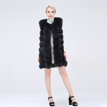 Female Coat Real Fox Fur Vest Natural Fox Fur Waistcoat Warm Winter Coat Natural Fur Coat Pretty Real Fur Coats недорого