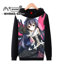 Animation around the second element autumn and winter for men and women plus velvet hooded casual Japanese fashion Hoodies