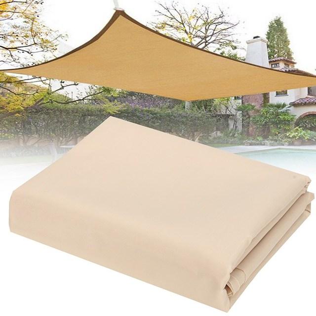 2X1.8m Sun Shade Sail Mesh Net Outdoor Garden Plant Cover Canopy Waterproof Awning Size Beige edge Anti-UV Sun shelter