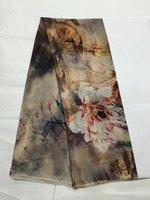 Tulle de soie imprimée tissu d'été fruits tissu imprime robe soie mousseline de soie tissu en gros tissu de soie tissu minky matériel LX0564