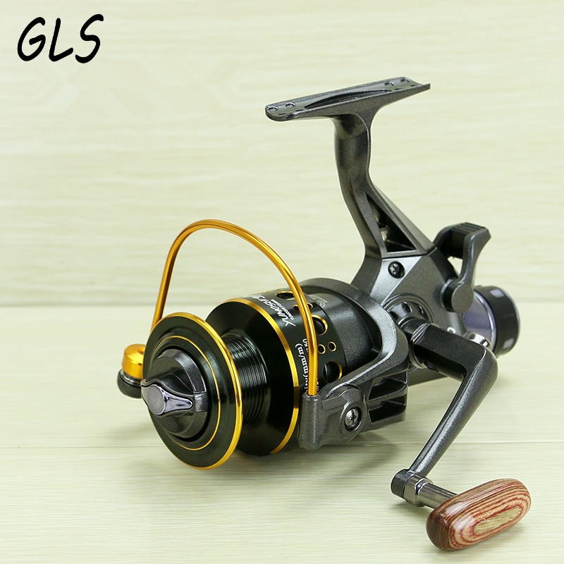 De nieuwe 10 + 1BBs Spinning Fishing Reel 5.2: 1 Max Drag 10 KG Karpervissen Spinning Reel Voor en achter rem vissen reel