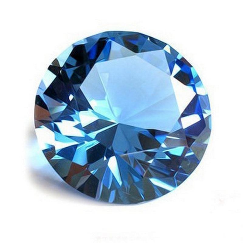 Beautiful 4cm Sky blue crystal jewel glass diamond quartz stone for love gift home decor