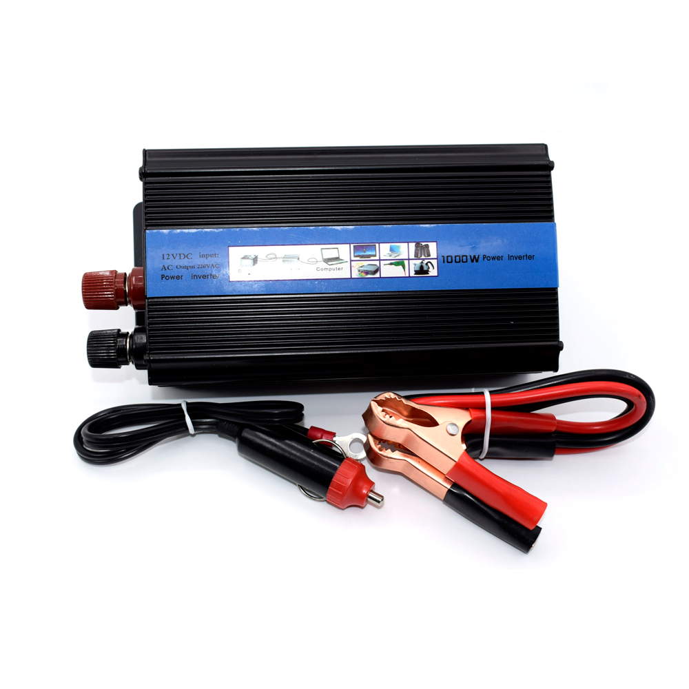 Car inverter 1000W DC 12 v to AC 220 v vehicle power supply switch on-board charger car inverter With Cigar lighter image