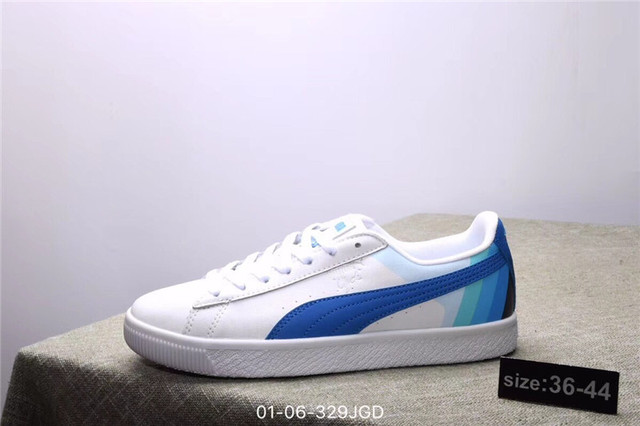 puma shoes PUMA Dolphin PUMA Clyde - Pink Dolphin Joint Shoes White Red  size36-44 e31ac6f76eec