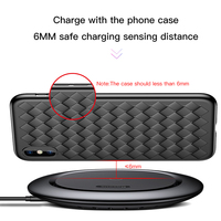 Baseus UFO Wireless Charger For iPhone X 8 Samsung Note8 S9 S8 Mobile Phone 10W Qi Wireless Charging Charger Fast Charging Pad 5