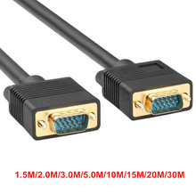 Cable VGA 3+9 1.5m 2m 3m 5m 10m 15m 20m 30m 40m 50m VGA to VGA Extension Cable 3 9 For Computer Projector Monitor Laptop HDTV