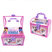 Makeup Set Fashion House Simulation Dresser Toy Beauty Pretend Play for Kids Birthday Gift Children's Make up Simulation Toy