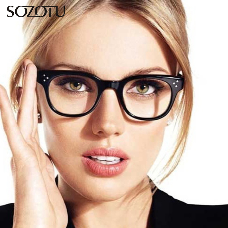 SOZOTU Optical Eyeglasses Frame Women Prescription Computer Clear Lens Glasses Spectacle Frame For Female Oculos Eyewear YQ397 in Women 39 s Eyewear Frames from Apparel Accessories
