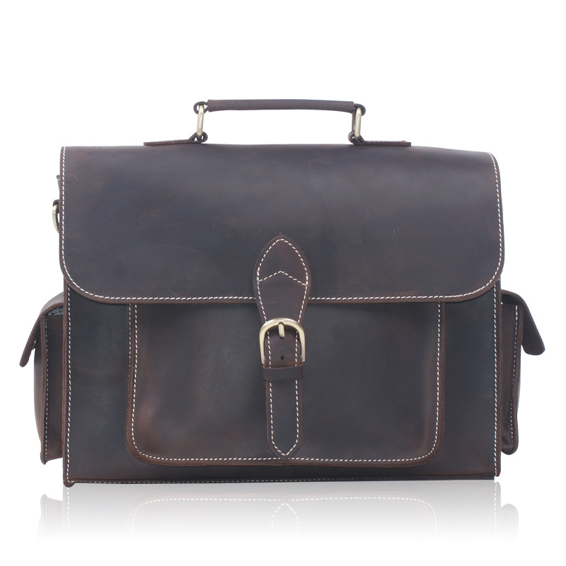 купить 2018 Business Genuine Leather Men Briefcase Cowhide Men's Messenger Bags 14