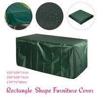Крытый открытый патио мебель диван-кресло, стол Защитная крышка погодных условий снег пыленепроницаемые покрытия зеленый 3 Размеры