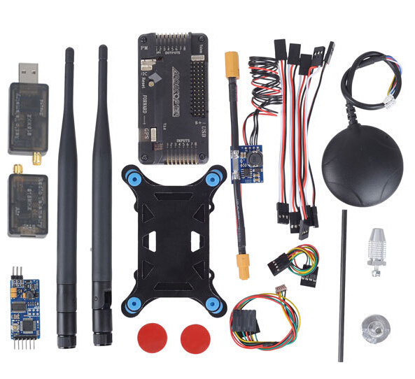 ArduPilot systerm APM2.6 Flight Controller APM 2.6+ Ublox 6M GPS w/ Compass+ PM+ 433Mhz 3DR Telemetry +OSD side pin version