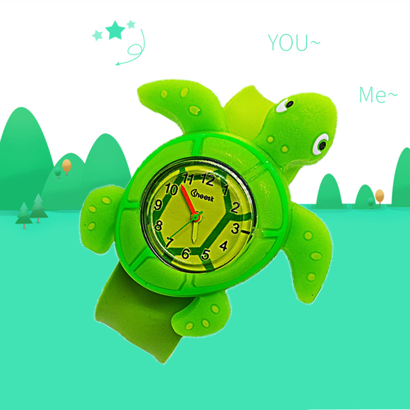 Creative Silicone Strap Cartoon Turtle Child WatchGirl Boy Student Wristwatch Fashion Children Electronic Baby Gift Kids Watch