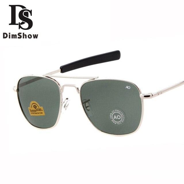 e76cc28ba Dimshow نظارات الرجال العلامة التجارية مصمم الأزياء الطيران ao النظارات  للذكور العسكري للجيش الأمريكي الزجاج البصري
