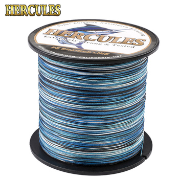 Hercules New Camo 8 Strands PE Braided Fishing Line 100M 300M 500M 1000M 1500M 2000M Pesca Saltwater Weave Carp Fish ghotda 8 strands 1000m 500m 300m pe braided fishing line tresse peche saltwater fishing weave superior extreme super strong