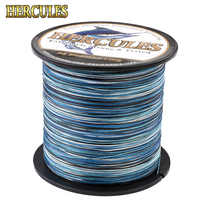 Hercules New Camo 8 Strands PE Braided Fishing Line 100M 300M 500M 1000M 1500M 2000M Pesca Saltwater Weave Carp Fish