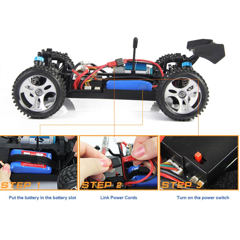 RC Car 2.4G 1/18 Scale Remote Control Model 4WD Off-Road RC Buggy For Wltoys A959 Vehicle Toys Children Birthday Gifts F mini rc car 1 28 2 4g off road remote control frequencies toy for wltoys k989 racing cars kid children gifts fj88