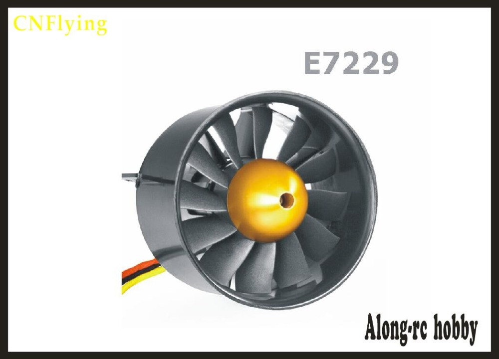 free shipping Freewing 90MM metal EDF E7229 12 blades ducted fan with 6s outrunner Brushless Motor