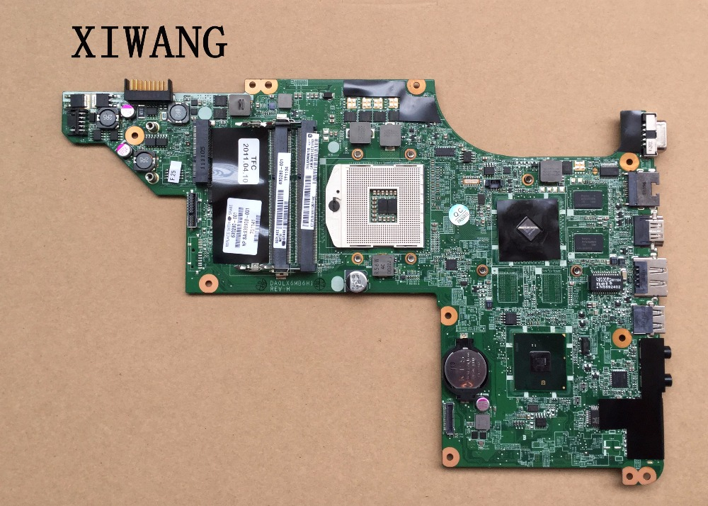 Free Shipping 603643-001 laptop motherboard for HP DV6T DV6-3000 HM55 Fully tested Mainboard DA0LX6MB6F2 nokotion 646176 001 laptop motherboard for hp cq43 intel hm55 ati hd 6370 ddr3 mainboard full tested