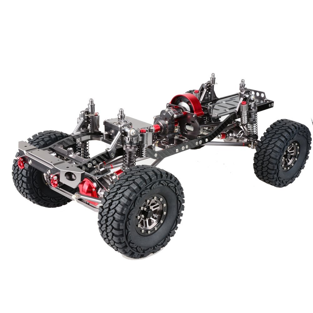 1/10 Scale 4WD Rock Crawler Aluminium Aolly Crawler Chassi Frame Kit Montering Chassi Frame Wheel Base 313mm Axial SCX10