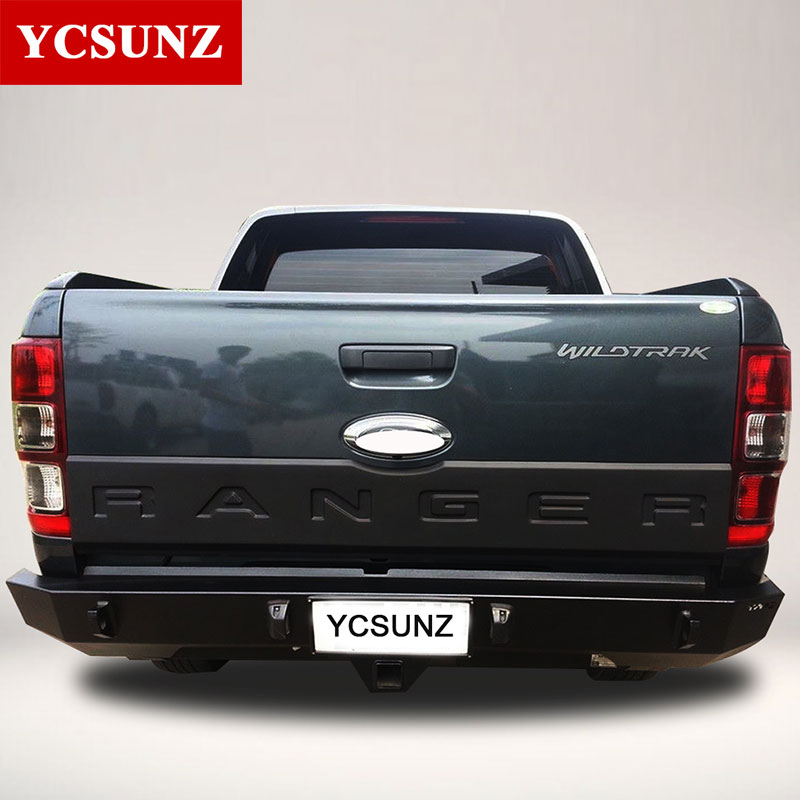 все цены на 2012-2017 Accessories For Ford Ranger Tailgate Trim Panel Bottom Board Cover Suitable Ford Ranger T6 T7 Wildtrak Ycsunz онлайн