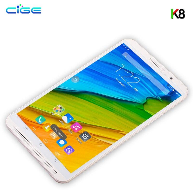 Date K8 8' Comprimés 64 gb ROM 4 gb RAM Octa Core 4g LTE Android 7.0 Tablet PC 1280x800 GPS bluetooth Appel téléphonique MT8752 Double SIM