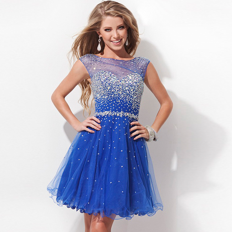 High Quality Blue Short Homecoming Dresses-Buy Cheap Blue Short ...