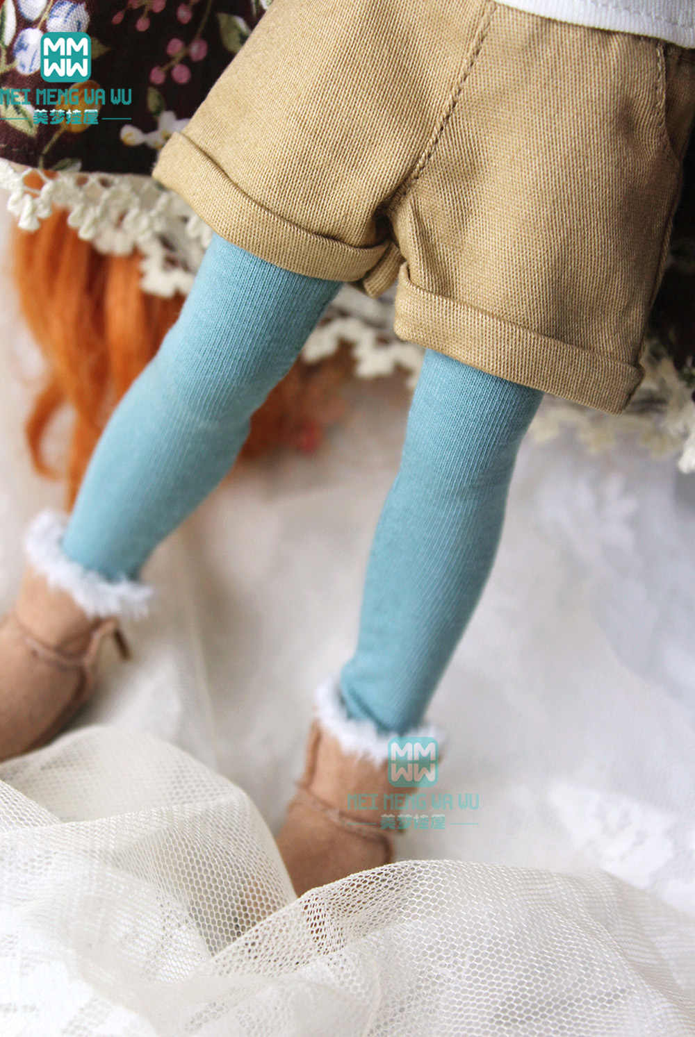1 PCS Blyth poppenkleertjes fashion cuffed shorts zwart, denim, plaid, kaki voor 28-30 cm Blyth, Azone 1/6 pop