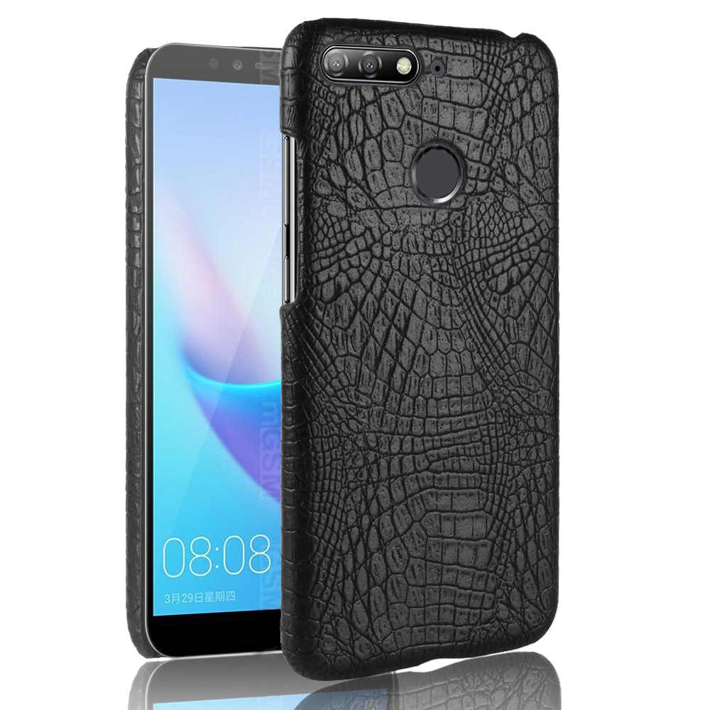 Leather Case for Huawei Honor 7A Cover Luxury Crocodile Snake Skin Shell On 10 9 Lite 6A 5A 5X 6X 7X 8X 5C 6C 7C 8C Phone Case