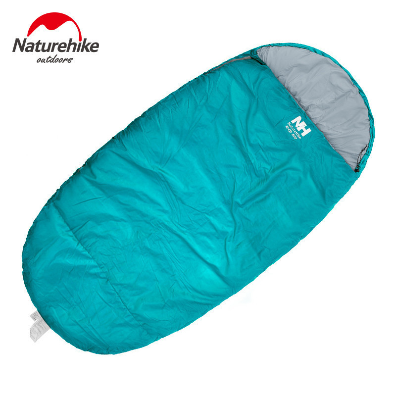 ФОТО Naturehike 230cm X 100cm Size L Thickening autumn spring sleeping bag Outdoor Ultra-light Blue Green Red Hiking Cotton