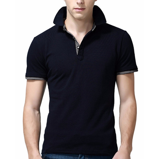 Camisa Plus Size 2017 Brand Mens Polo Shirt Short-Sleeve Solid Men Polo Homme Slim Turn Down Collar Polo Shirt Mens Clothing