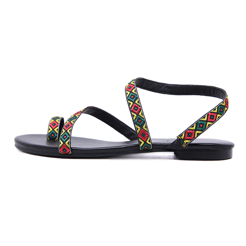 NAN JIU MOUNTAIN Shoes woman Summer Roman Sandals National Wind Handmade  Comfort Flat Woman Shoes Plus Size 35 42-in Women s Sandals from Shoes on  ... 1f3400a325cd